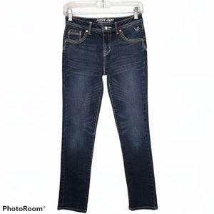 Justice Distressed Skinny Simply Low Denim Jeans